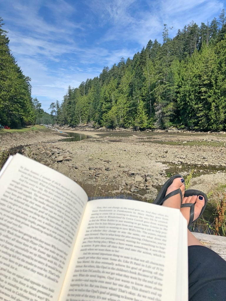 Secret Cove - Open Book adn Feet Up