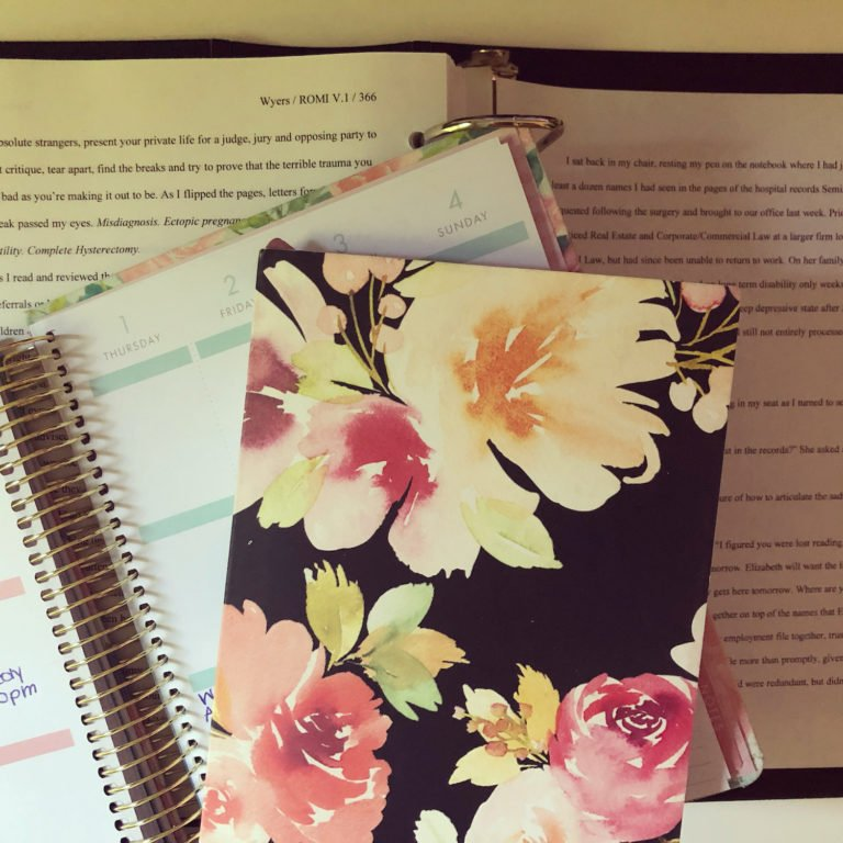 Floral Notebook, Agenda and Preview of Romilegal Downtown