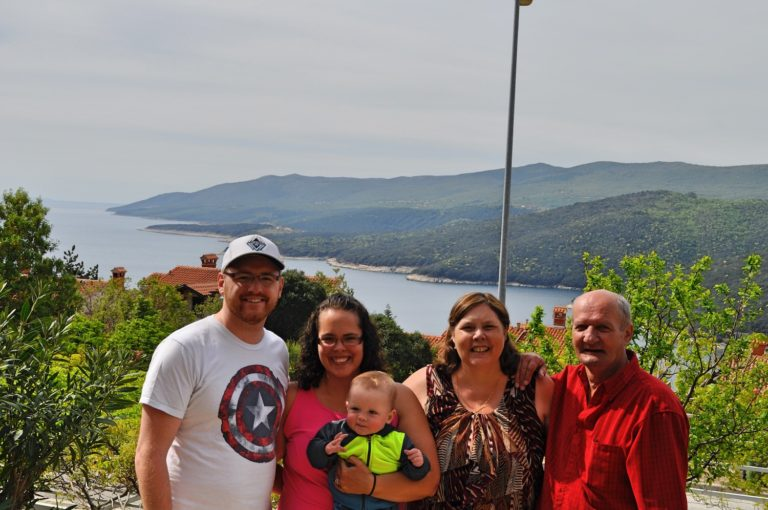 Canadian Family in Rabac, Croatia