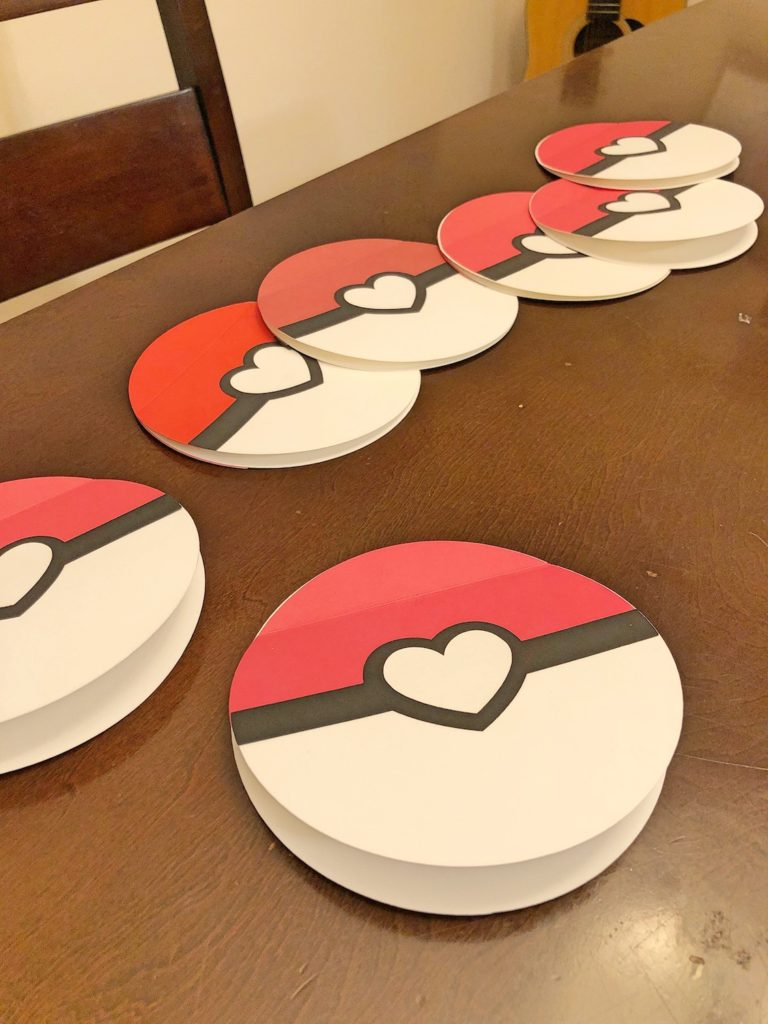 Pokeball Valentines with Heart