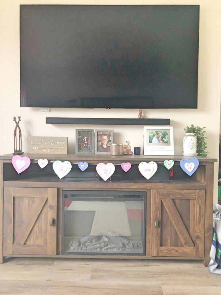 Valentines Conversation Heart Banner